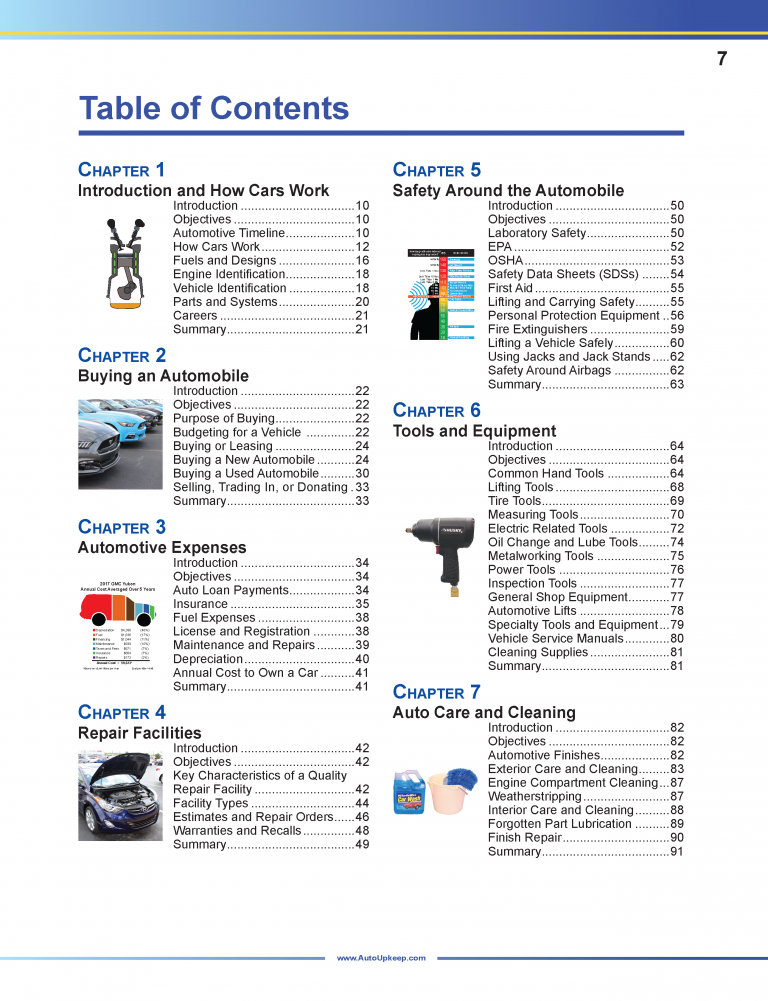 Auto Upkeep Textbook Page 7