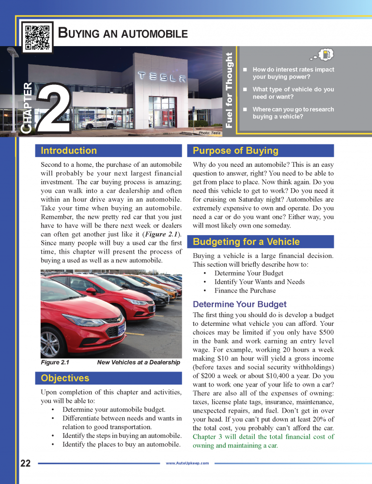 Auto Upkeep Textbook Page 22