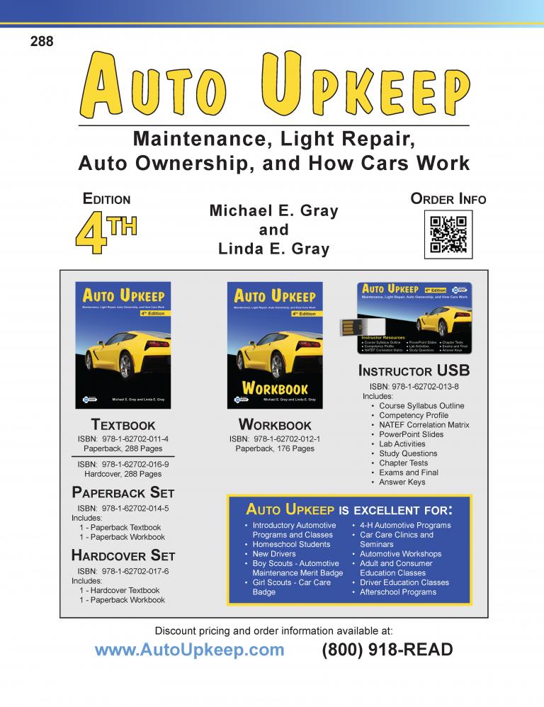 Auto Upkeep Textbook Page 288