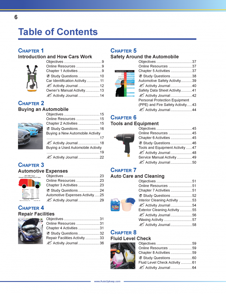 Auto Upkeep Workbook Page 6