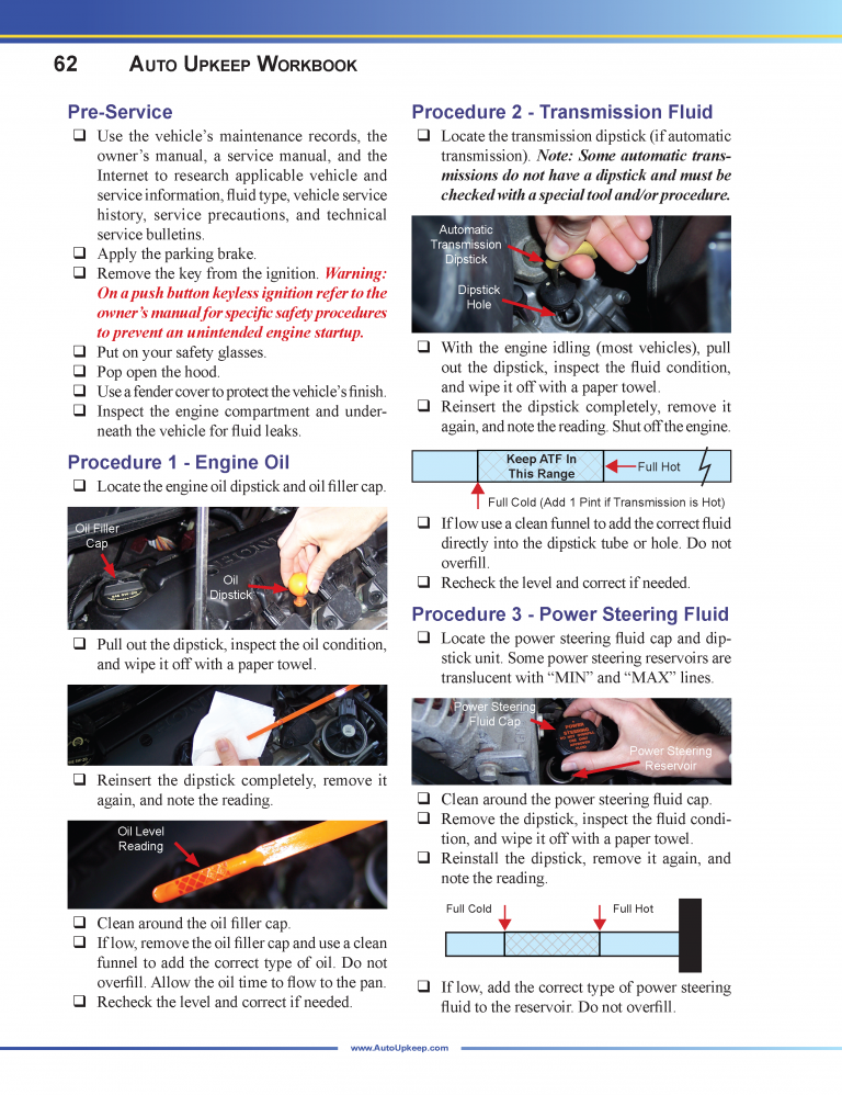 Auto Upkeep Workbook Page 62