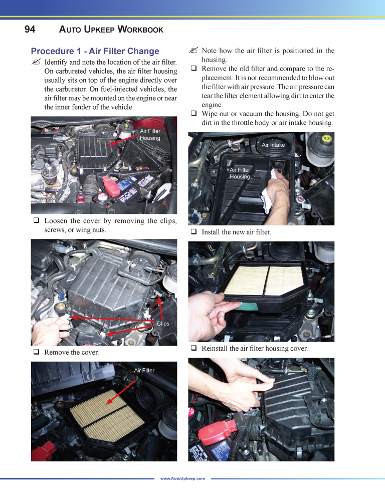 Auto Upkeep Workbook Page 94
