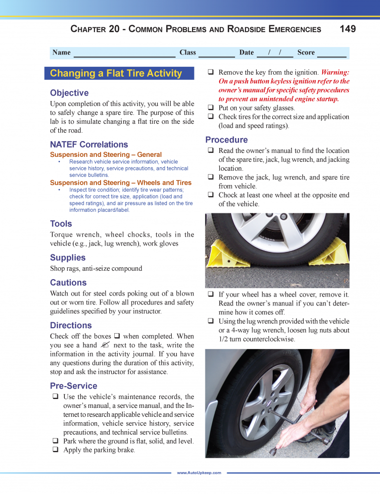 Auto Upkeep Workbook Page 149
