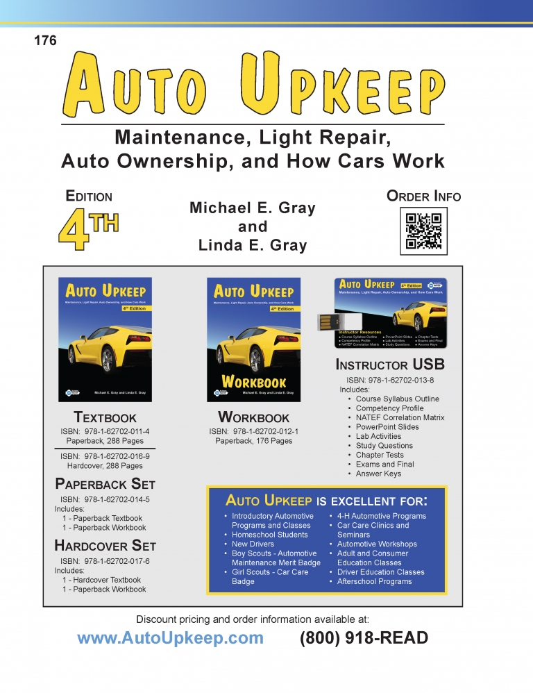 Auto Upkeep Workbook Page 176