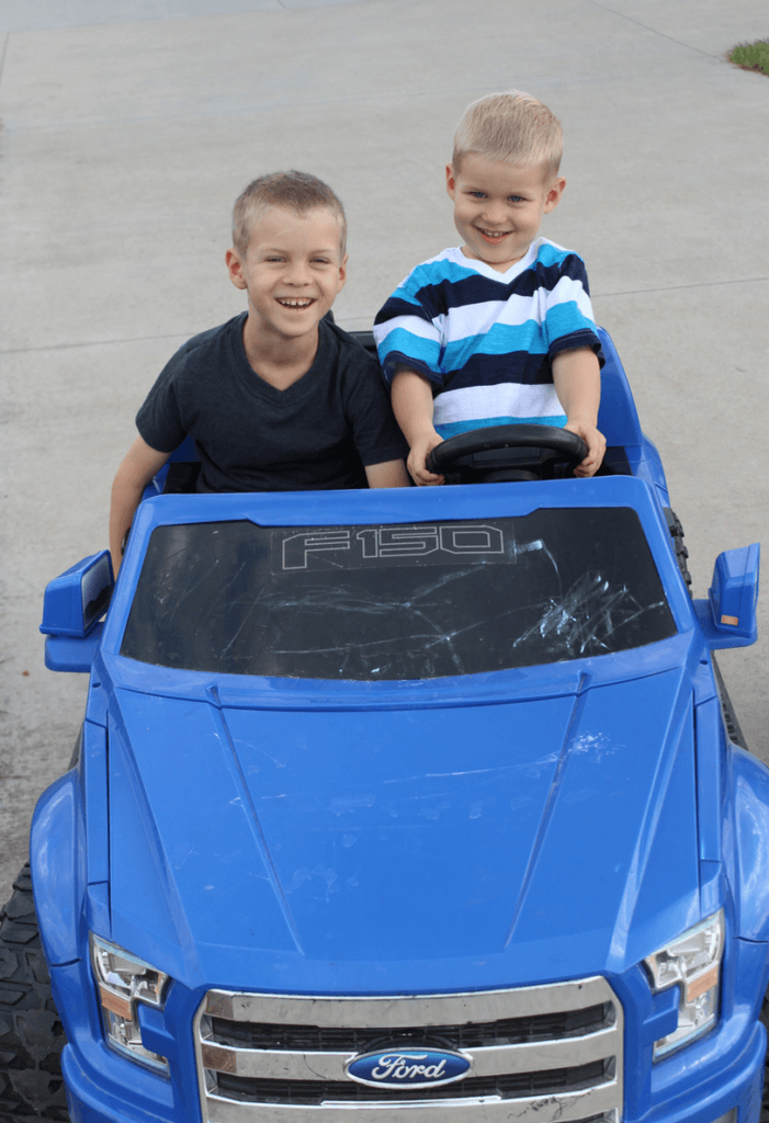 Boys and the F150 Truck